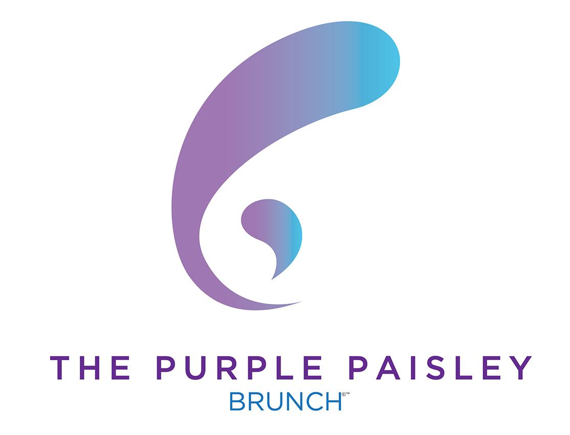 Purple Paisley Brunch Logo Design