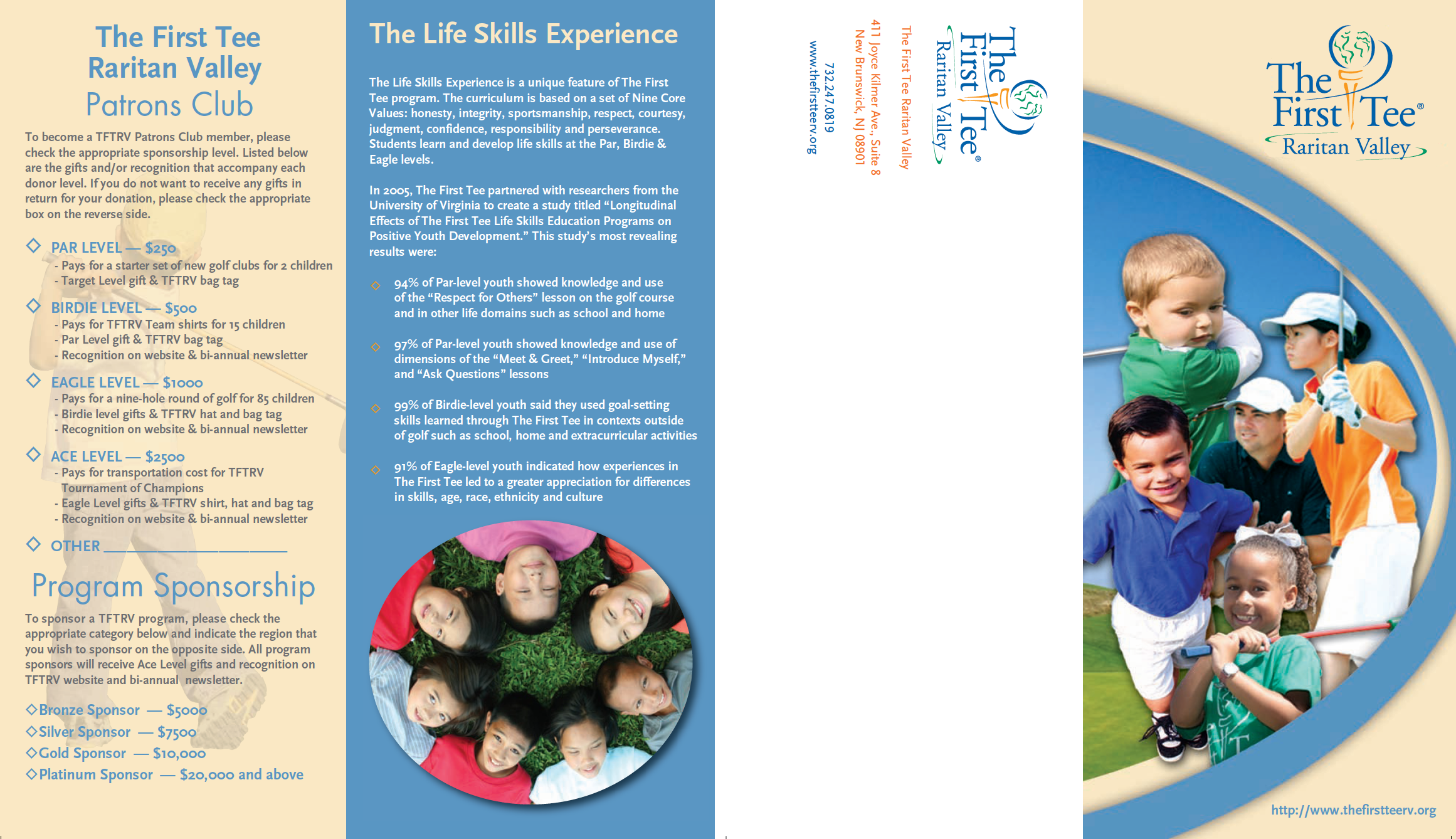The First Tee Brochure Design